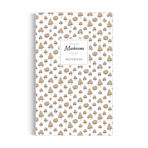 One Million Mushrooms Notebook: Button Brown Edition (5x8 inches)
