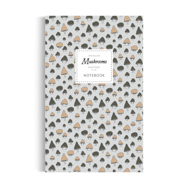 Notebook: One Million Mushrooms - White Edition (5x8 inches)