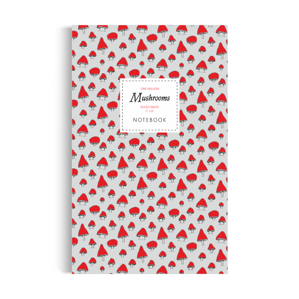 One Million Mushrooms Notebook: Magic Red Edition (5x8 inches)