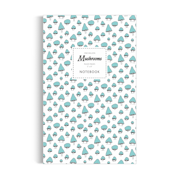 One Million Mushrooms Notebook: Sky Blue Edition (5x8 inches)