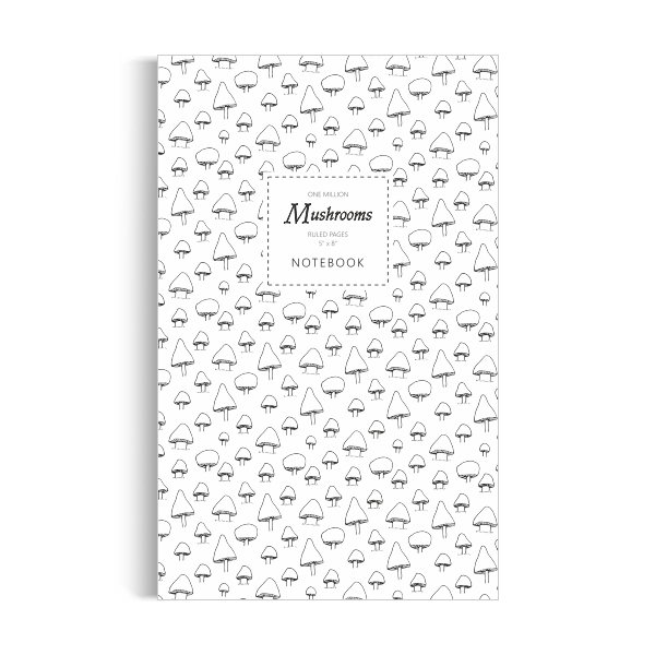 One Million Mushrooms Notebook: White Edition (5x8 inches)