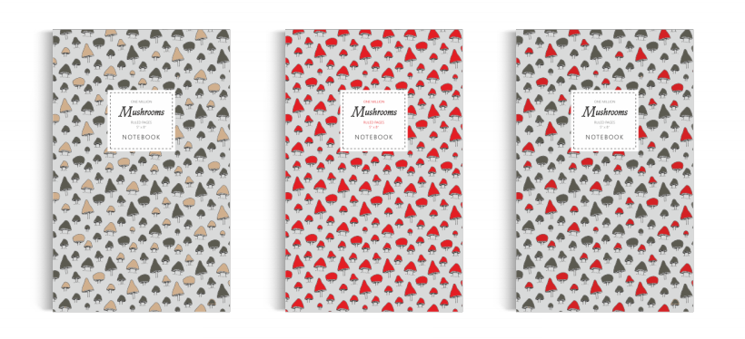 Notebook: One Million Mushrooms Collection (5x8 inches)