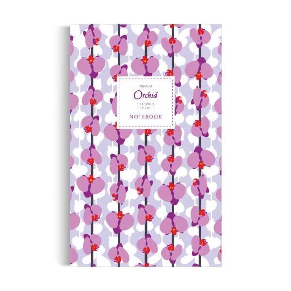 Notebook: Orchid - Meditation Edition (5x8 inches)