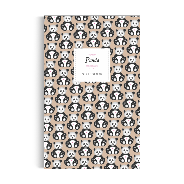 Panda Notebook: Brown Edition (5x8 inches)
