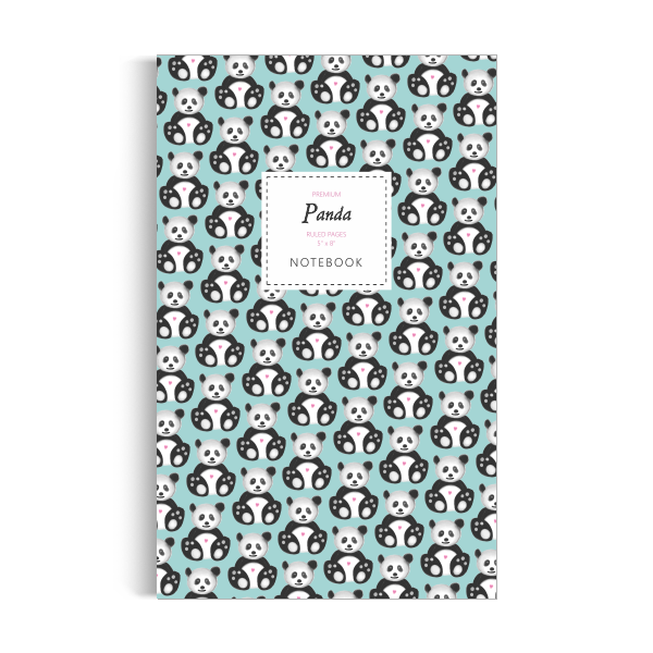 Notebook: Panda - Sky Blue Edition (5x8 inches)