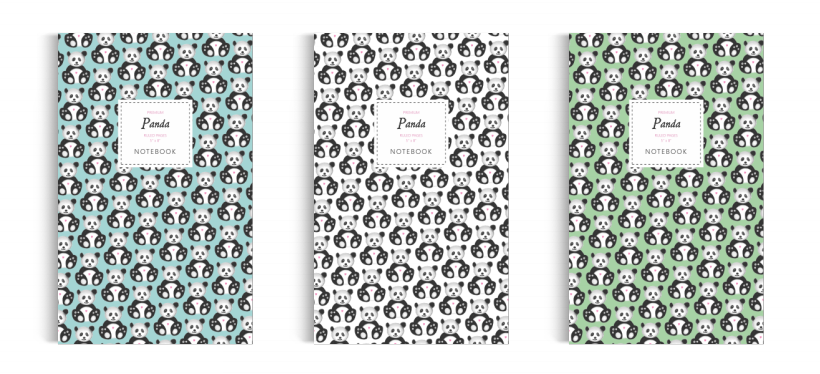 Notebook: Panda Collection (5x8 inches)