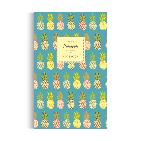 Pineapple Notebook: Sea Green Edition (5x8 inches)