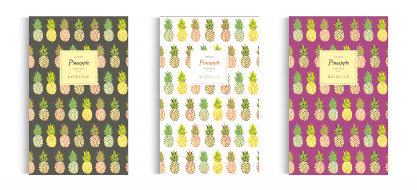 Notebook: Pineapple Collection (5x8 inches)