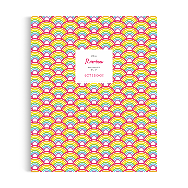 Rainbow Notebook: Original Edition (8x10 inches)