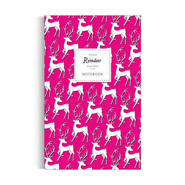 Reindeer Notebook: Pink Edition (5x8 inches)