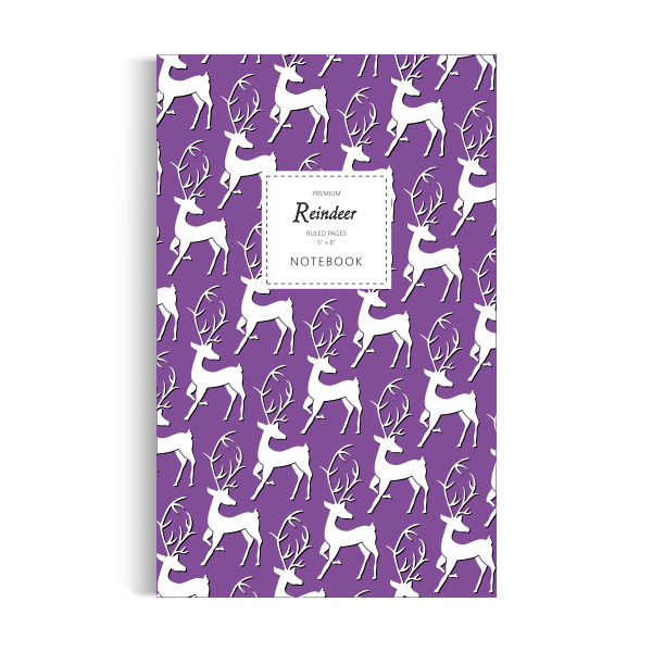 Reindeer Notebook: Purple Edition (5x8 inches)