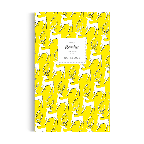 Reindeer Notebook: Yellow Edition (5x8 inches)