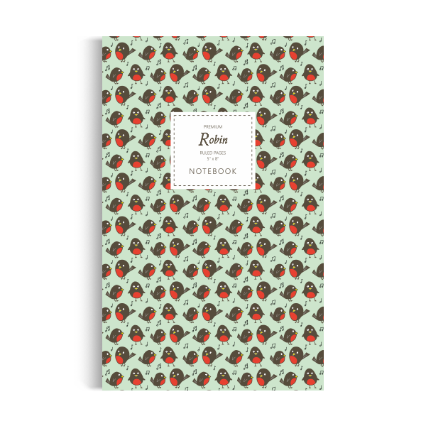 Robin Notebook: Green Edition (5x8 inches)