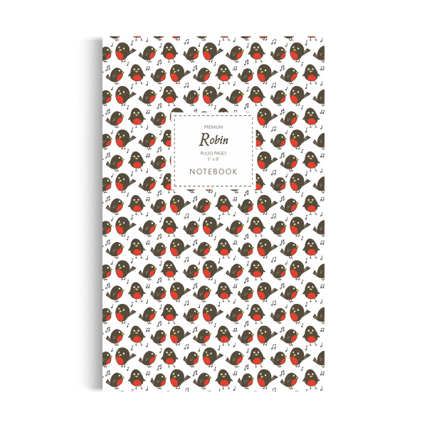 Robin Notebook: White Edition (5x8 inches)