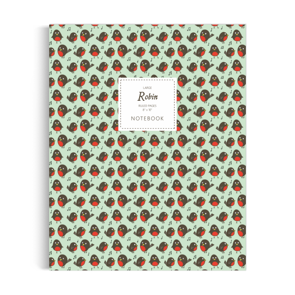 Robin Notebook: Green Edition (8x10 inches)