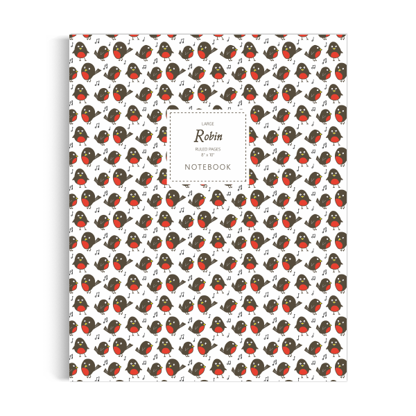 Robin Notebook: White Edition (8x10 inches)