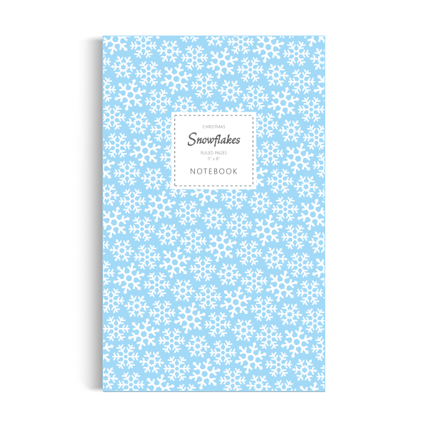 Notebook: Snowflakes (Christmas) - Ice Blue Edition (5x8 inches)