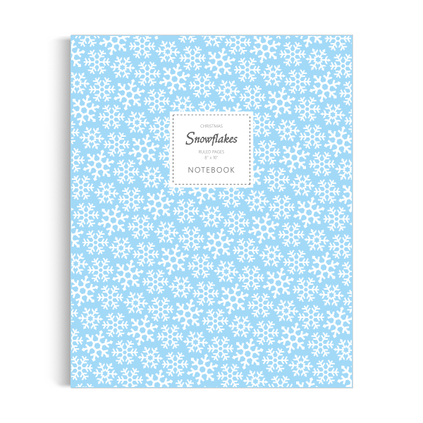 Snowflakes (Christmas) Notebook: Ice Blue Edition (8x10 inches)