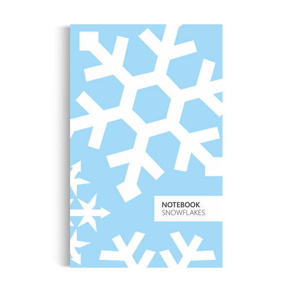 Notebook: Snowflakes - Ice Blue Edition