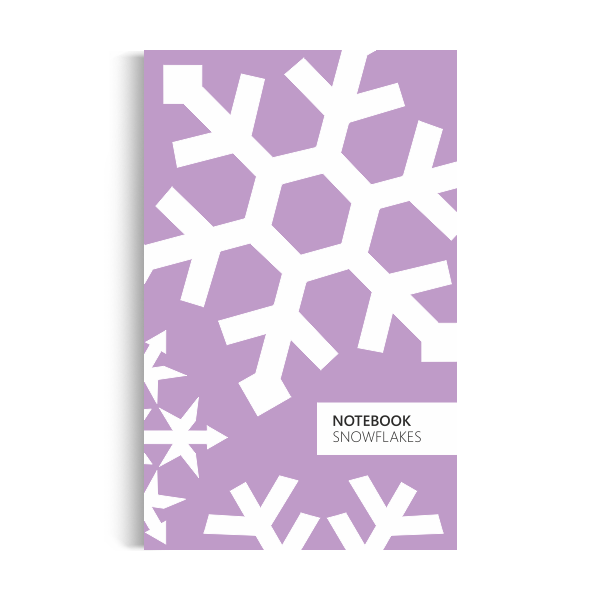 Notebook: Snowflakes - Violet Edition