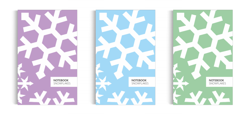 Notebook: Snowflakes - Collection
