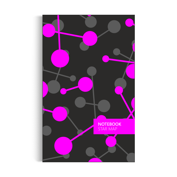Star Map Notebook: Night Pink Edition (5x8 inches)