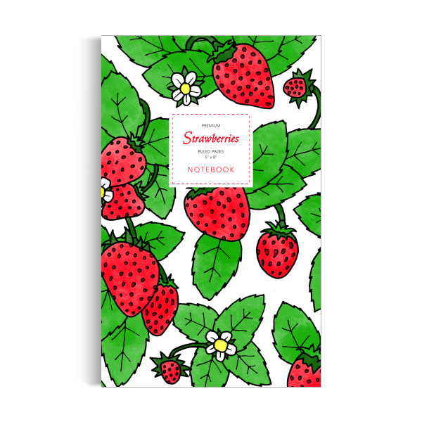 Notebook: Strawberries (5x8 inches)