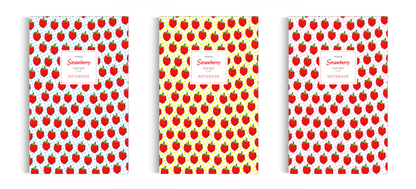 Notebook: Strawberry Collection (5x8 inches)