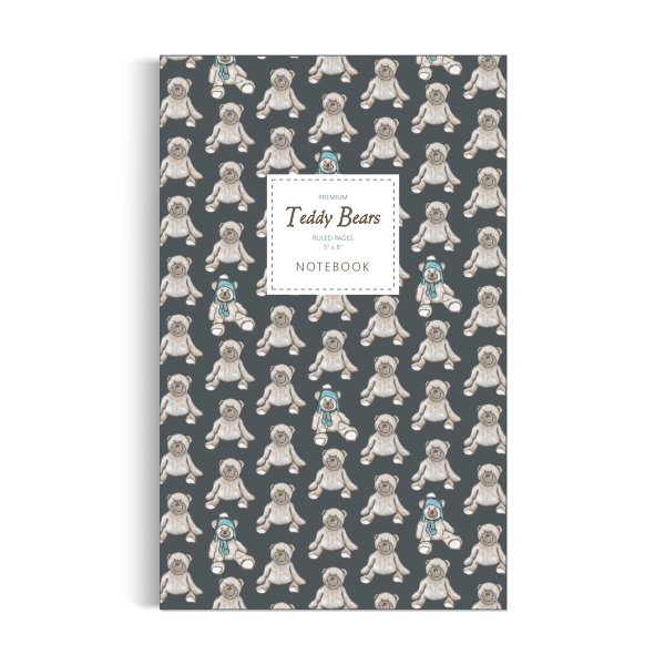 Teddy Bears Notebook: Dark Edition (5x8 inches)
