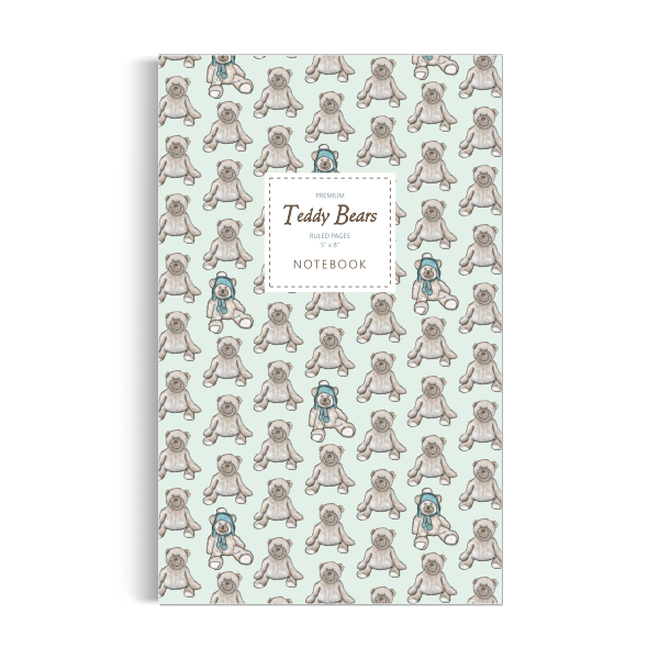 Teddy Bears Notebook: Green Edition (5x8 inches)