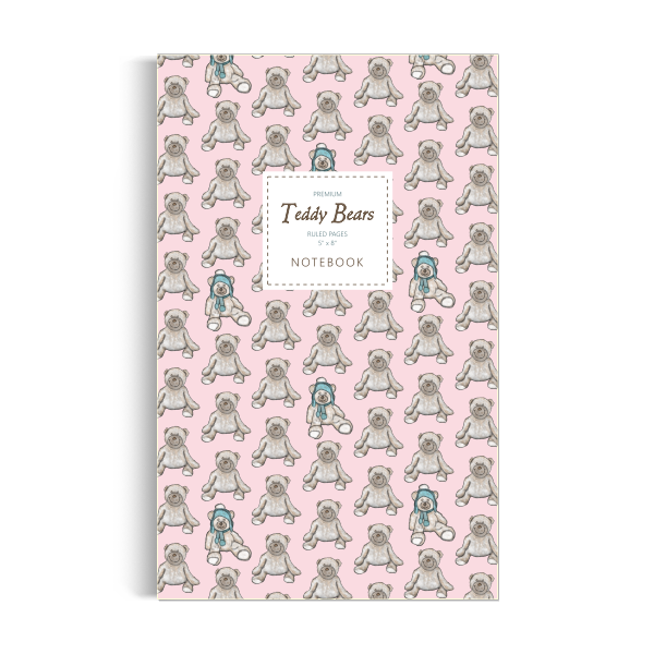 Teddy Bears Notebook: Pink Edition (5x8 inches)
