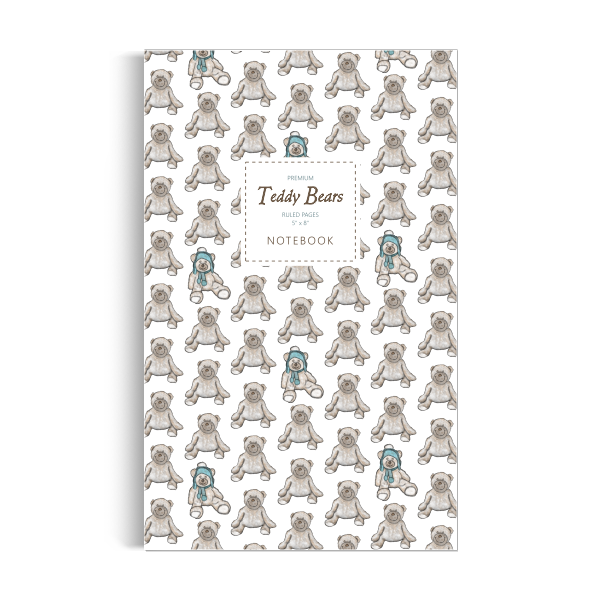 Teddy Bears Notebook: White Edition (5x8 inches)