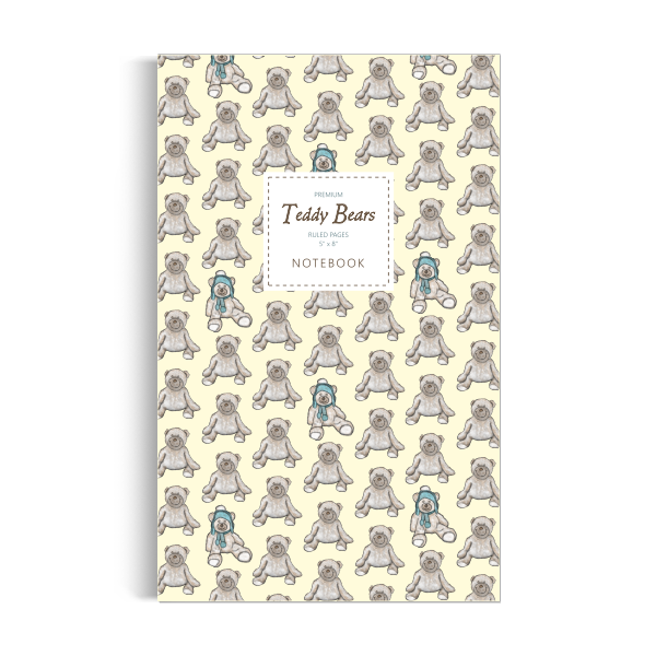 Teddy Bears Notebook: Yellow Edition (5x8 inches)