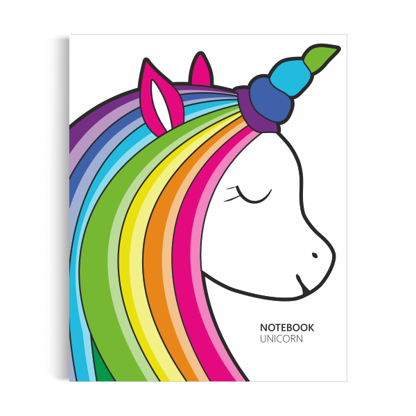 Unicorn Notebook: White Edition (8x10 inches)