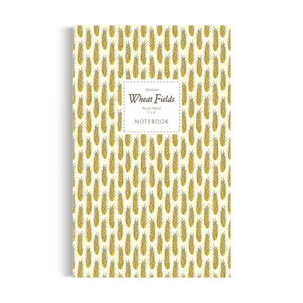 Wheat Fields Notebook: Golden Edition (5x8 inches)