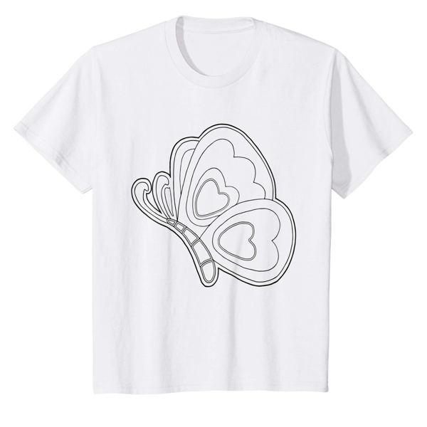 T-Shirt Colouring: Butterfly Wing (Men, Women & Kids)