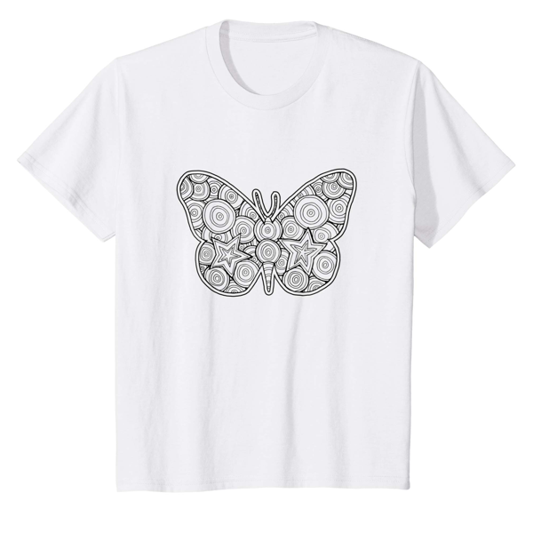 T-Shirt Colouring: Butterfly (Men, Women & Kids)