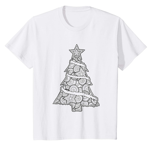 T-Shirt Colouring: Christmas Tree (Men, Women & Kids)