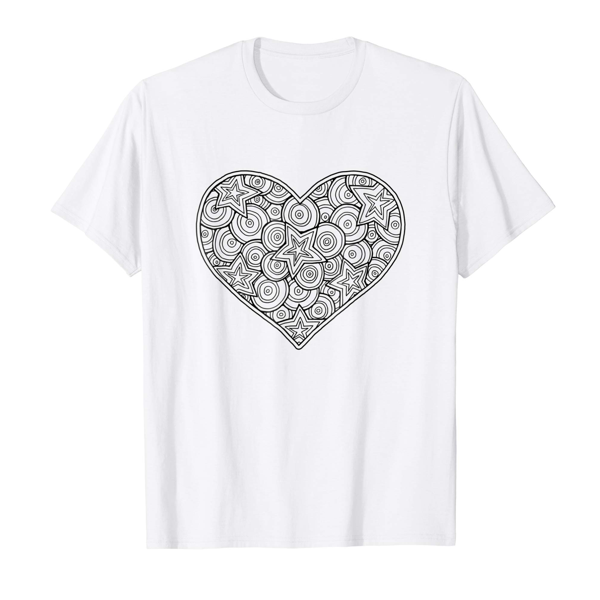 T-Shirt Colouring: Heart (Mens Edition)