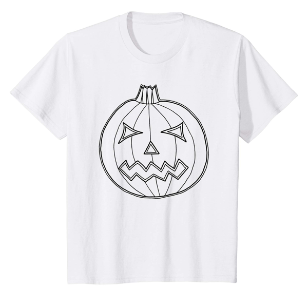 T-Shirt Colouring: Jack O Lantern (Men, Women & Kids)