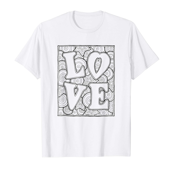 T-Shirt Colouring: Love (Block Edition) (Mens Edition)