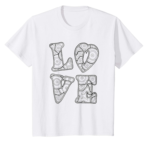 T-Shirt Colouring: Love (Men, Women & Kids)