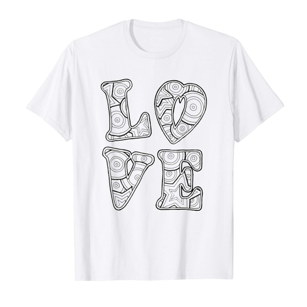 T-Shirt Colouring: Love (Mens Edition)
