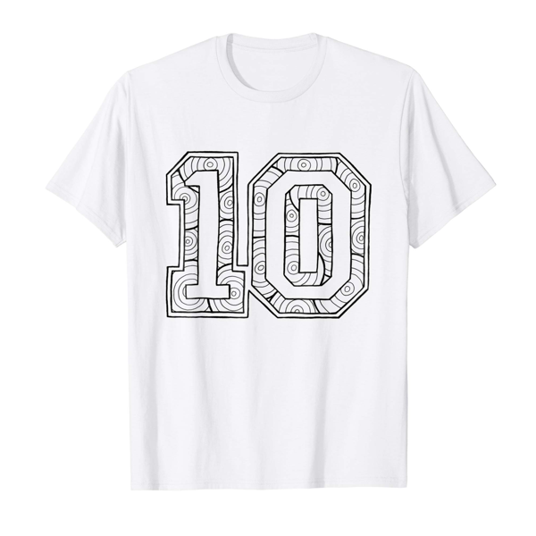 T-Shirt Colouring: Number 10 (Mens Edition)