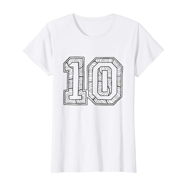 T-Shirt Colouring: Number 10 (Womens Edition)