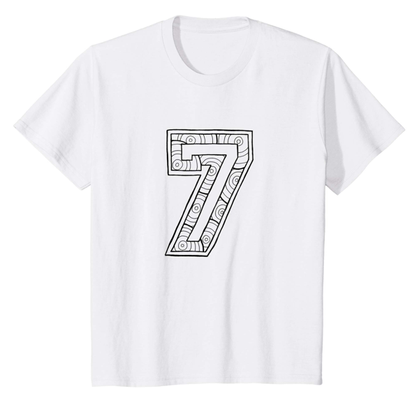 T-Shirt Colouring: Number 7 (Kids Edition)