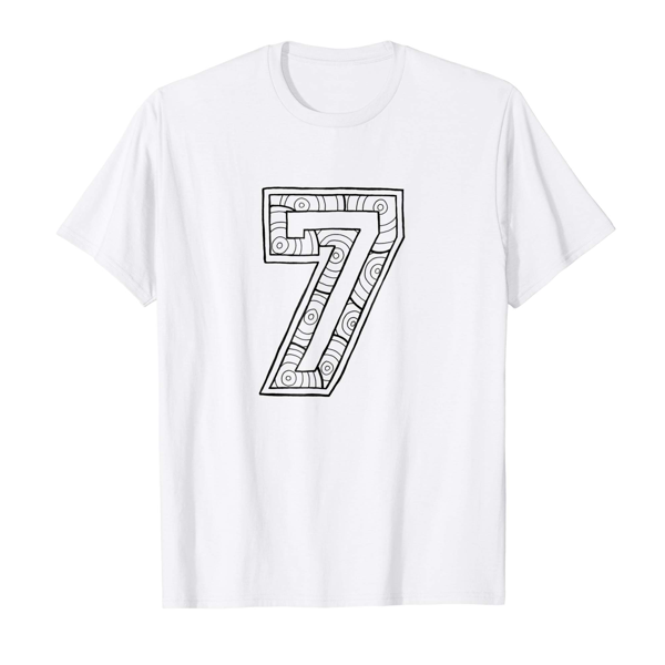 T-Shirt Colouring: Number 7 (Mens Edition)
