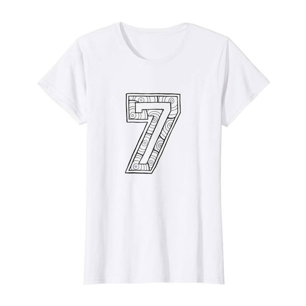 T-Shirt Colouring: Number 7 (Womens Edition)