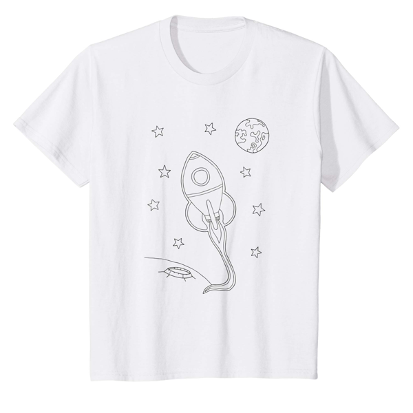 T-Shirt Colouring: Space (Men, Women & Kids)