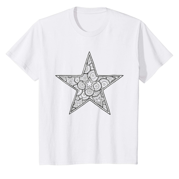 T-Shirt Colouring: Star (Men, Women & Kids)